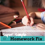 Super Easy Homework Fix for Every Family {FREE Printable}