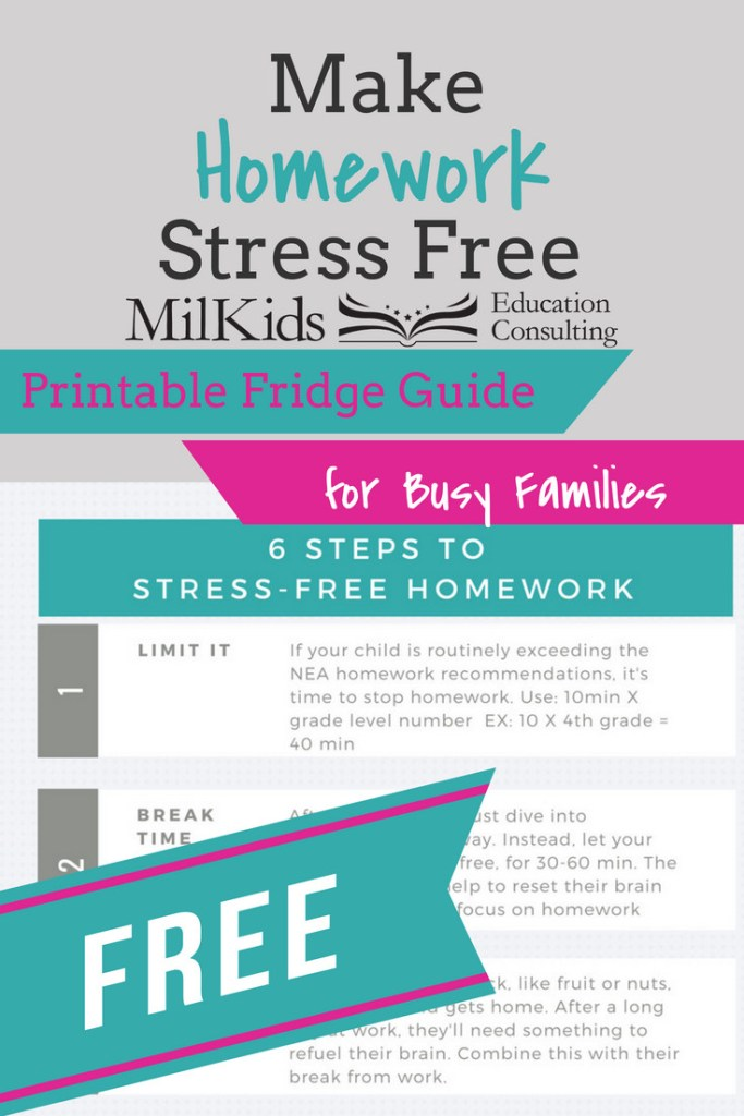 6 steps to stress free homework