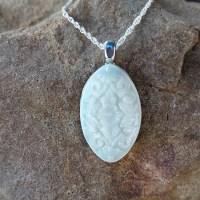 Ornate Oval Pendant - Milk Vine Jewelry