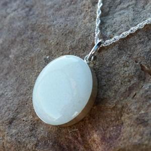 Round, Sterling Silver Bezel Breast Milk Pendant - Milk Vine Jewelry