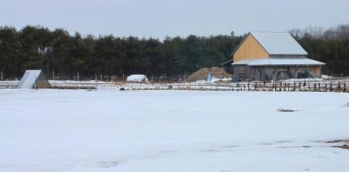 Fields beneath the snow