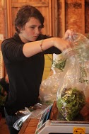 Lila bagging lettuce mix