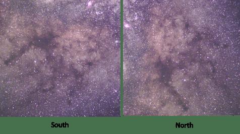 Milky Way South North