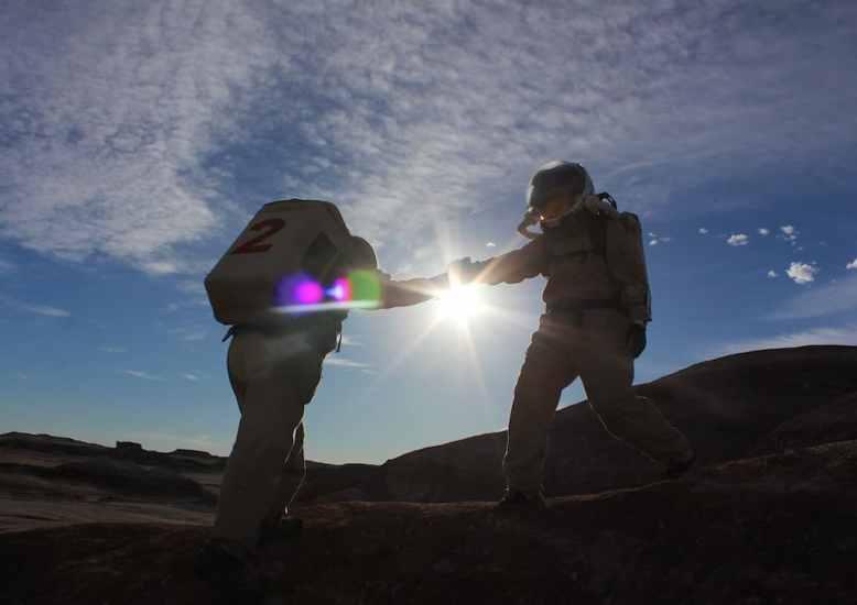 Astronauts in the Sun