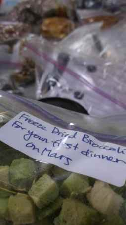 Space Food deployed today from orbit 7