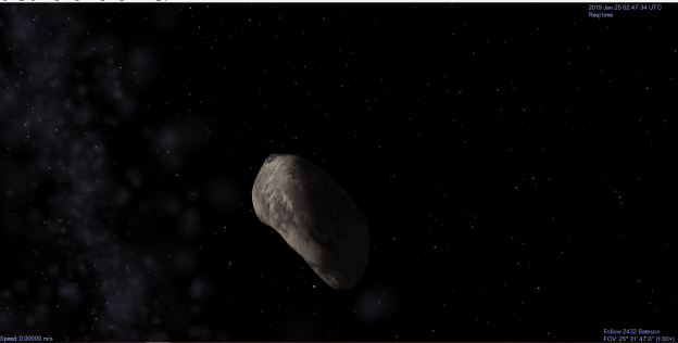 asteroid 2432 Bateson one of the asteroids I created in Celestia. Photo credit: Holly