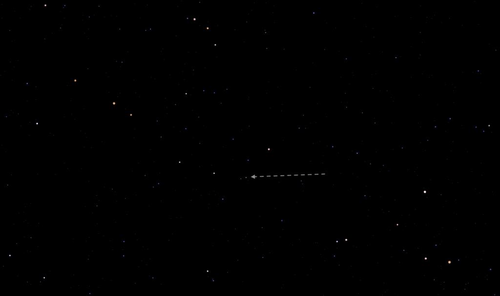 the Quasar's location