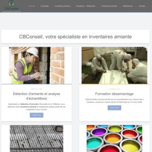 Création site web cbconseil: inventaire amiante
