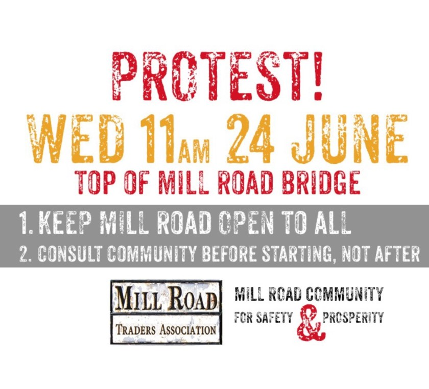Mill Road Traders' Association protest poster