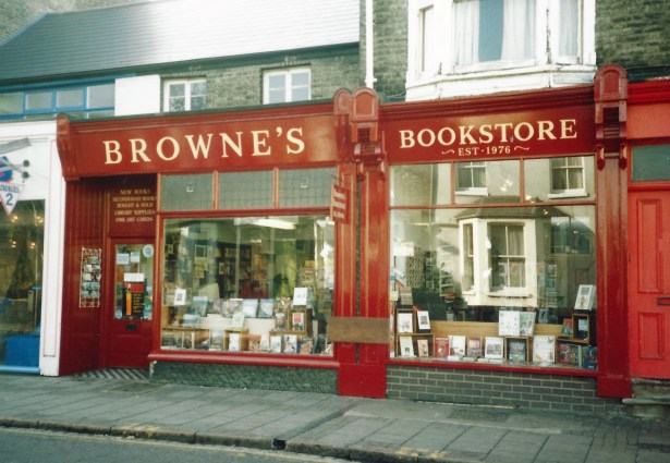Photo of exterior of Browne's Bookstore