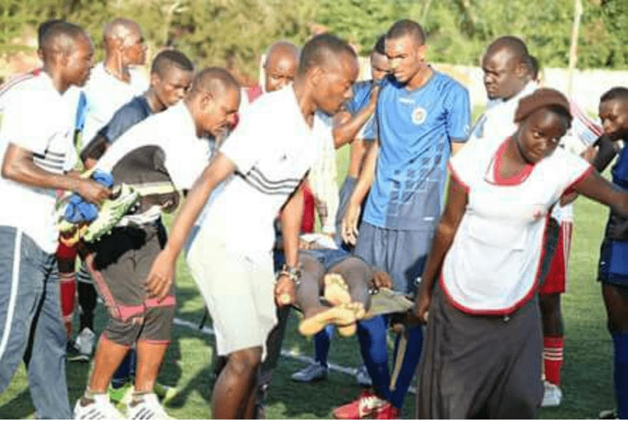PICHA: Mchezaji Mbao FC U 20 amefariki, baada ya kugongwa uwanjani