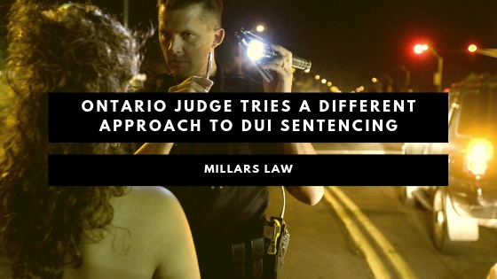 Ontario Judge Tries a Different Approach to DUI Sentencing