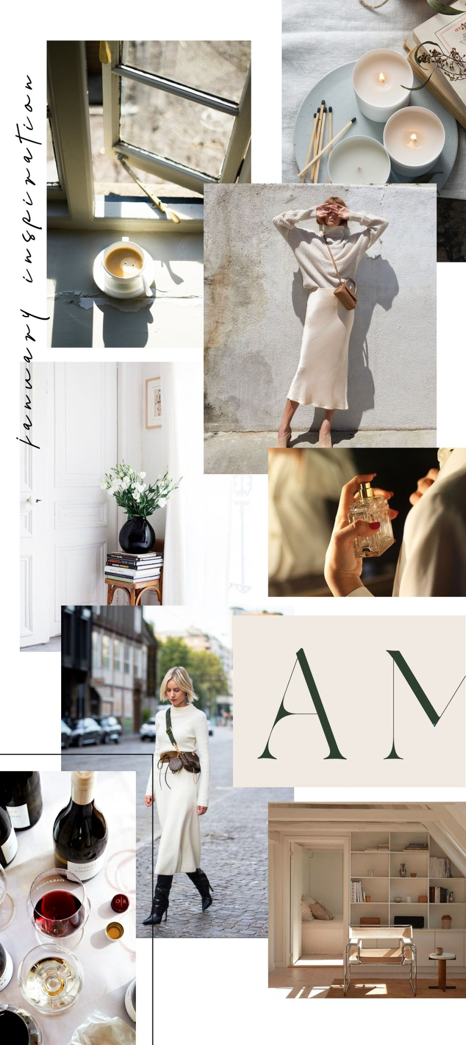 January Inspiration Mood Board from Millay Blog