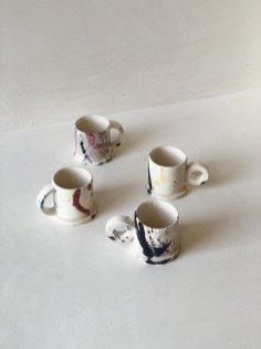 splatter espresso mugs