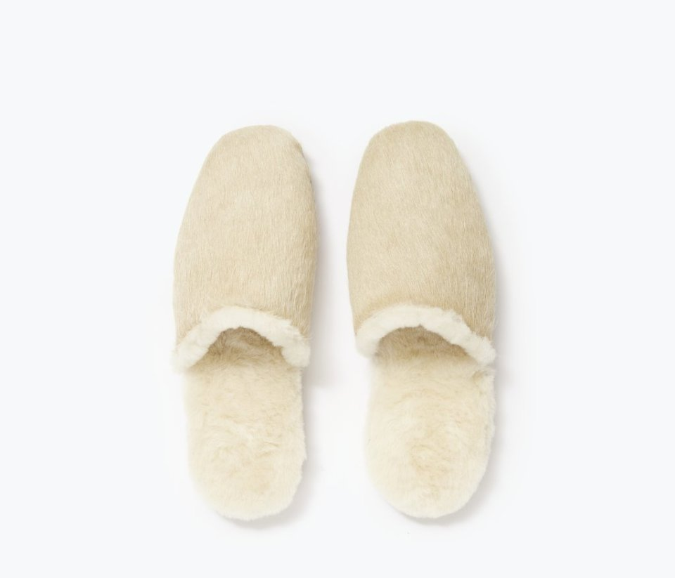 James Shearling Slippers by Freda Salvador
