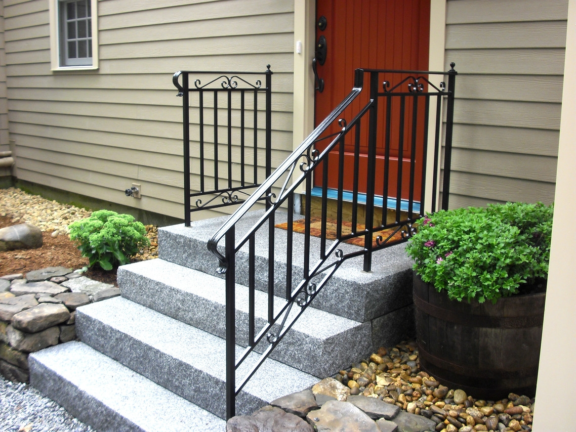 Iron Steel Project Showcase Mill City Iron   Wrought Iron Hand Railing For Steps