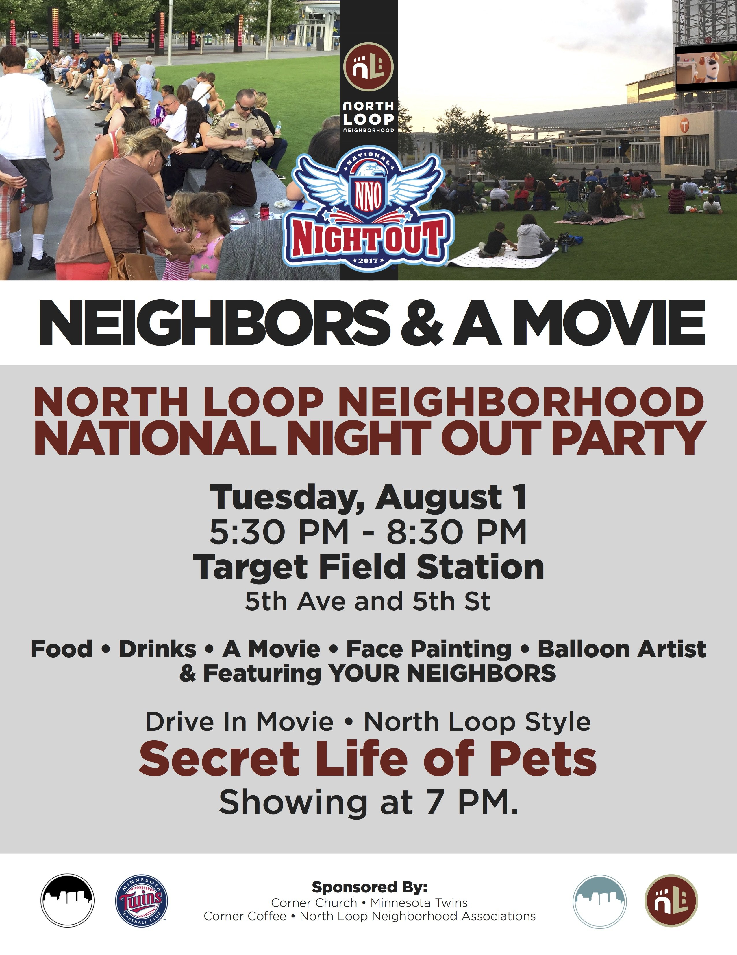 August 1, 2017, Tuesday - North Loop National Night Out in ...