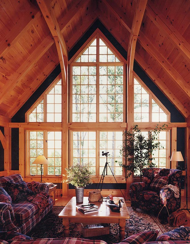 Mill Creek Designed Timber Frame Great Rooms