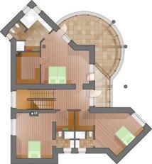 Уютный загородный дом. План 2-го этажа
