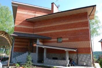 Современный дом в стиле чешский кубизм. Боковой фасад