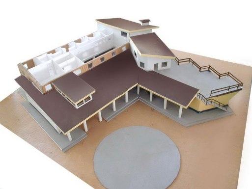 Рабочий макет загородного дома, вилла, неоклассический стиль, загородный дом
