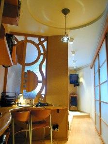 Дизайн интерьера квартиры. Перегородка в кабинете