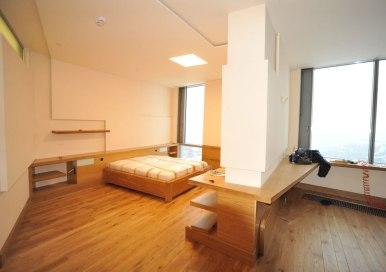 Дизайн интерьера квартиры в стиле контемпорари. Гостевая спальня