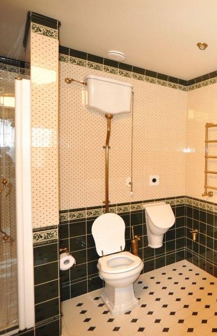 Дизайн интерьера в английском стиле. Ванная комната