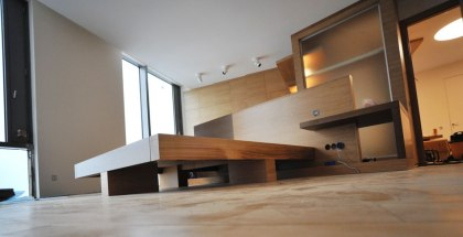 Дизайн интерьера квартиры в стиле контемпорари. Спальня