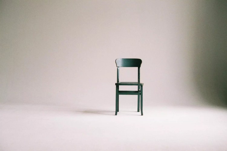 blue chair white background