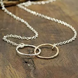 two toned infinity necklace