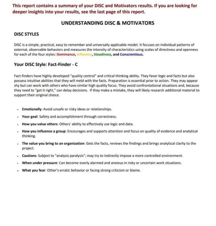 DISC Assessments - Tony Robbins