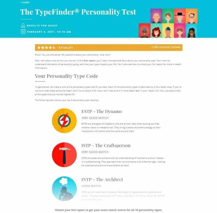Myers-Briggs Tests - Truity