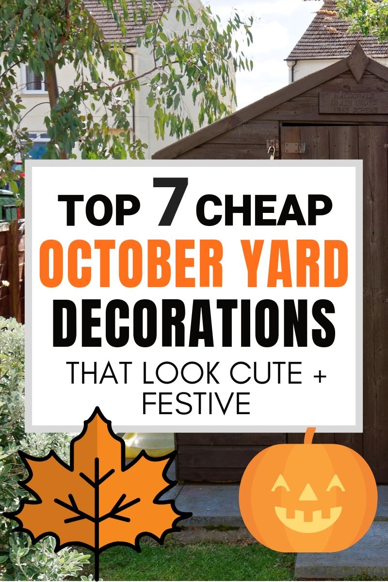 7 Halloween Yard Decoration Ideas that are Cute + Cheap on Lawn Decorating Ideas id=67990