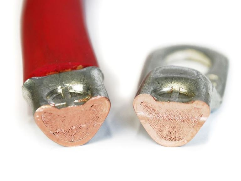 When properly crimped, the individual strands effectively micro-weld together forming a gas tight connection.