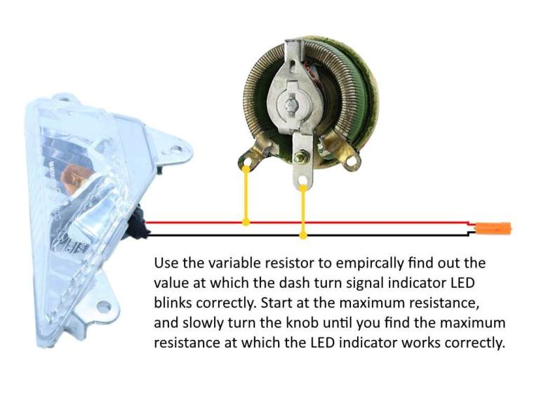 If you want, you can test the turn signal with a potentiometer to find out what value you need empirically.
