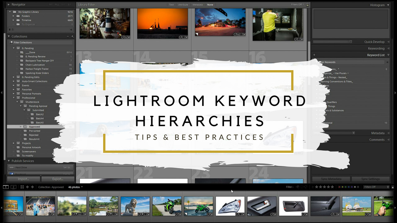 Lightroom Keyword Hiearchies are a very powerful organizational tool for your image catalog.