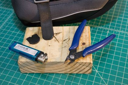 Use a lighter and some flush cutters to trim off any sharp edges made of melted plastic.