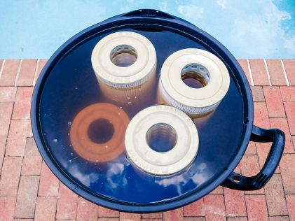 Once you drop in the filters, the cleaning effect will be obvious shortly after. Make sure to keep the filters fully submerged however you can (they will want to float).