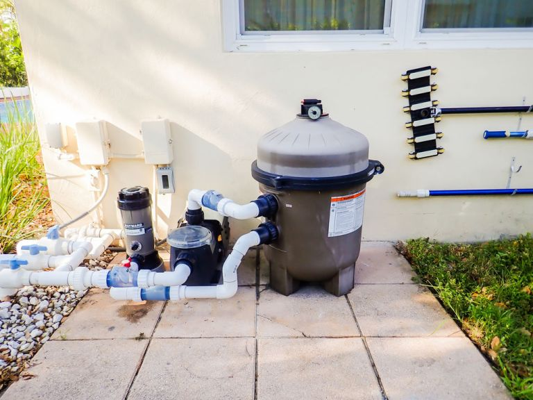 This is the assembly where we'll clean a Hayward pool filter for this home.