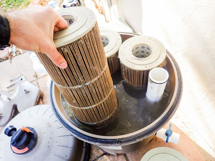 This is how you should expect your filter to look. Filthy. I wonder who said that owning a pool is glamorous...
