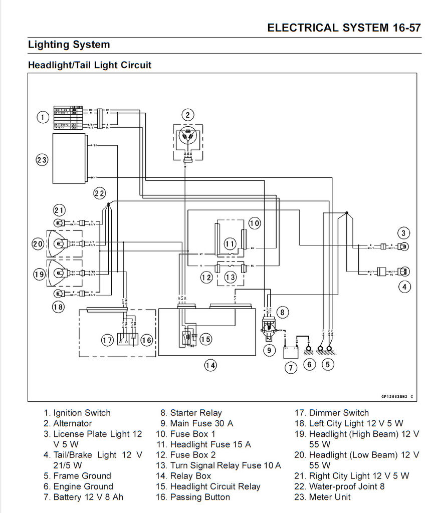Motorcycle Brake Light Modulator Diy Install Millennial Diyer Switch Test Multimeter As A Reference This Is The Diagram For 2015 Kawasaki Ninja 300 Tail Circuit Most Lights Are Wired In Way Similar To