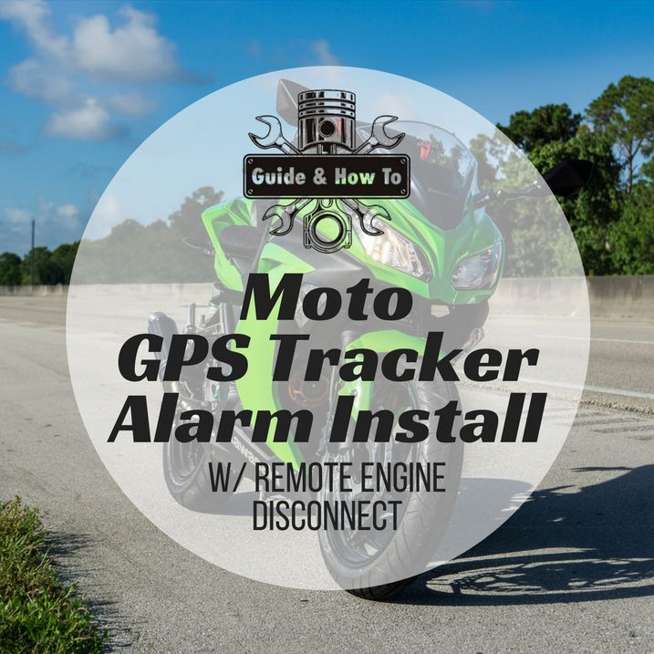 Motorcycle GPS Tracker Alarm Install with Remote Kill Switch