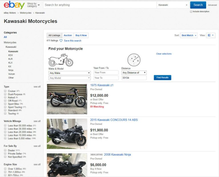 I have mixed feelings about Ebay Motors regarding vehicle sales, nonetheless it's a good starting point to post a free listing to sell my motorcycle.