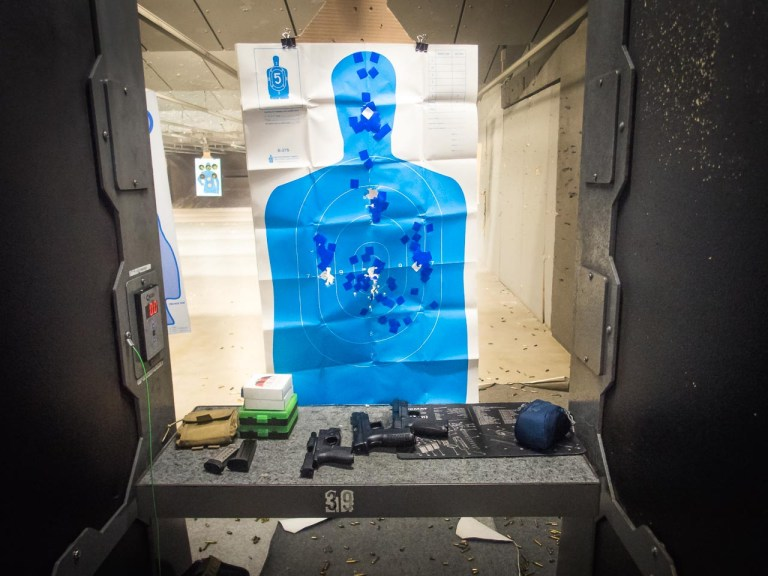 After firing over 200 rounds at this target, you'd barely tell from the looks of it. It's still perfectly usable thanks to the target pasters. Without them, you'd be either hitting air or making a chaotic mess. The stickers make spotting every single shot a piece of cake.