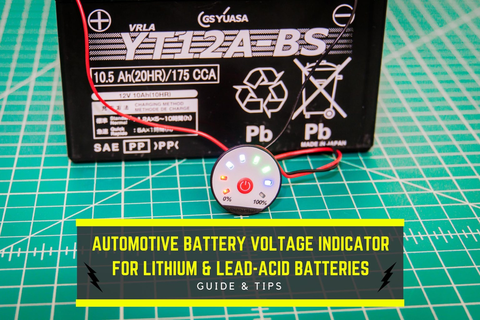 Diys Articles Reviews And More Battery Voltage Indicator Automotive For Lithium Lead Acid Batteries Guide
