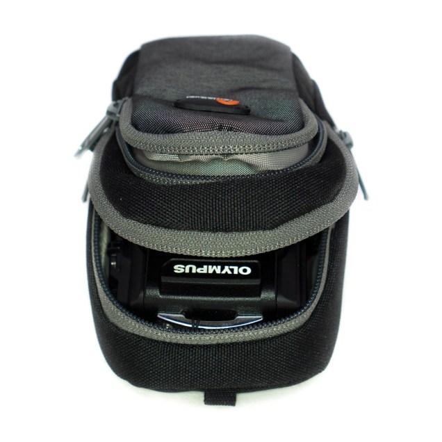 Like with the other cases, this pouch is better suited for true compact cameras. It'll fit the Olympus Tough all right, but not with any space to spare.
