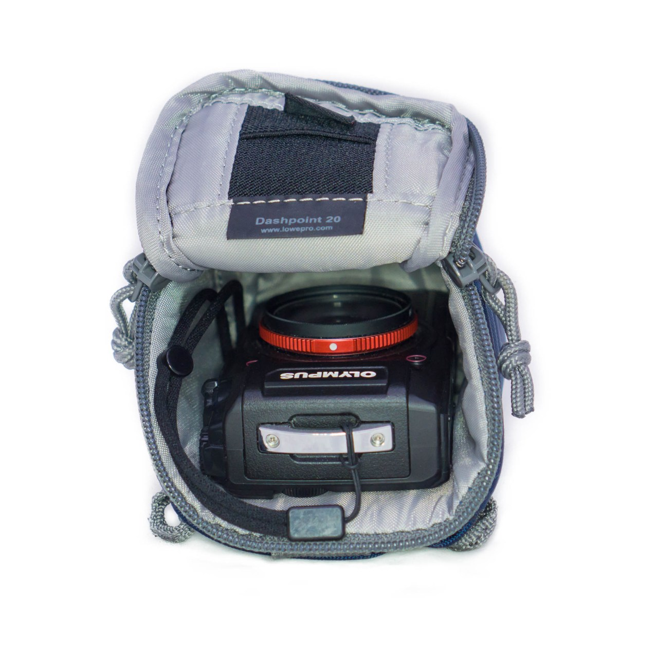 The Lowepro Dashpoint 20 fits the TG-5 perfectly, but the sole compartment severely limits its versatility.