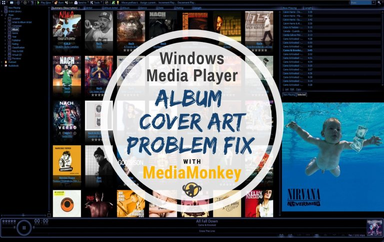 WMP Album Cover Art Problem Fix w MediaMonkey - Main Thumbnail