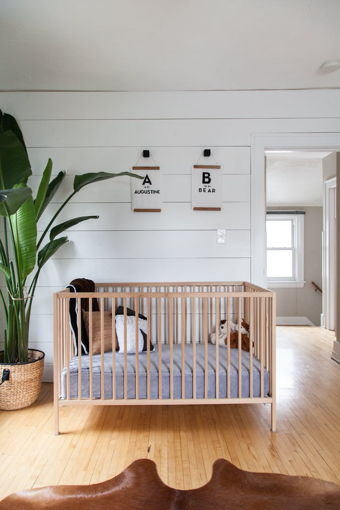 Via Apartment Therapy. This is one of my favorites, with some low key #shiplap and a banana palm!